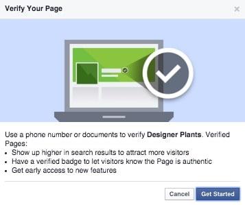 Facebook verify my page