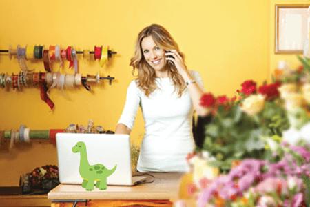 Dinosaur in florist