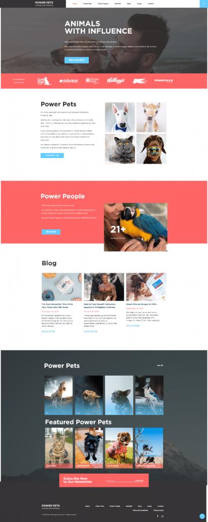 Power Pets Agency WordPress site