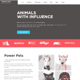 Power Pets Agency WordPress web design project