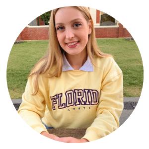 Maddison Carroll marketing intern for together partnership shaping uni students